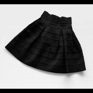 NWT black high waist bandage skater skirt M